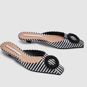Zara striped Mules